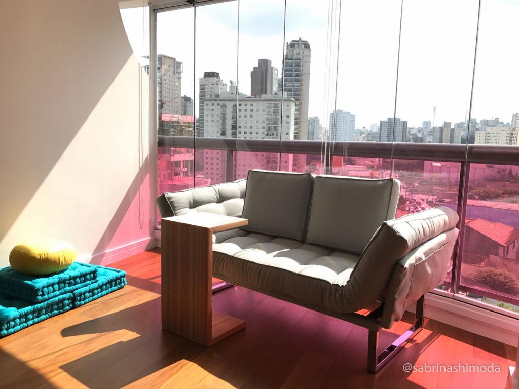 Novo Terraço, com sofá futon articulável